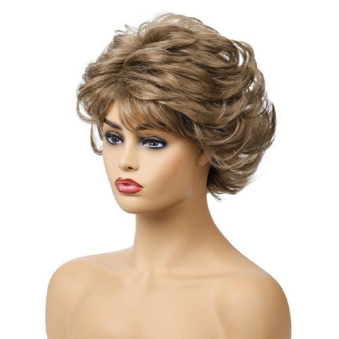 Frangediagonalecourte - couvre-chef enfibrechimique - perruque pour femme