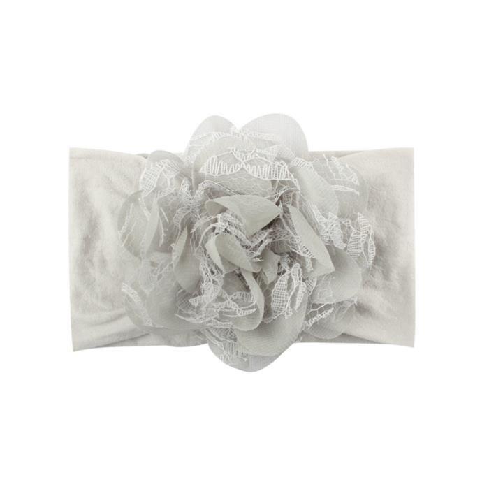 Soins bébéFilles bébé bambin princesse dentelle bandeau floral bande de cheveux accessoires couvre-chefs CXF90403241GY_YOU