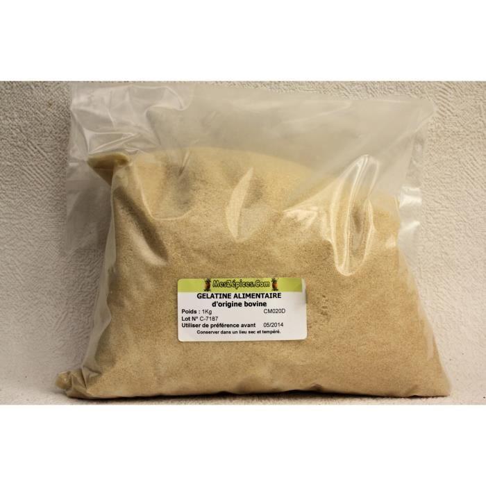 Gélatine alimentaire (150 bloom) bovine poudre …