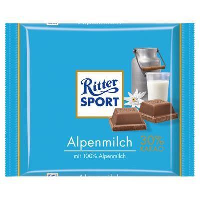 Ritter Sport Lait des Alpes [Tablette de 100g]