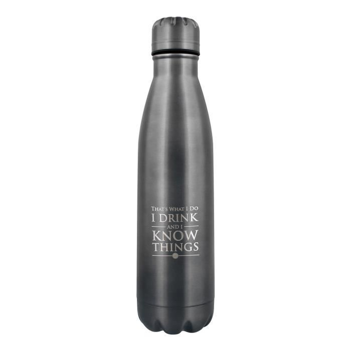 Game of Thrones Bouteille d'eau I Drink And I Know Things