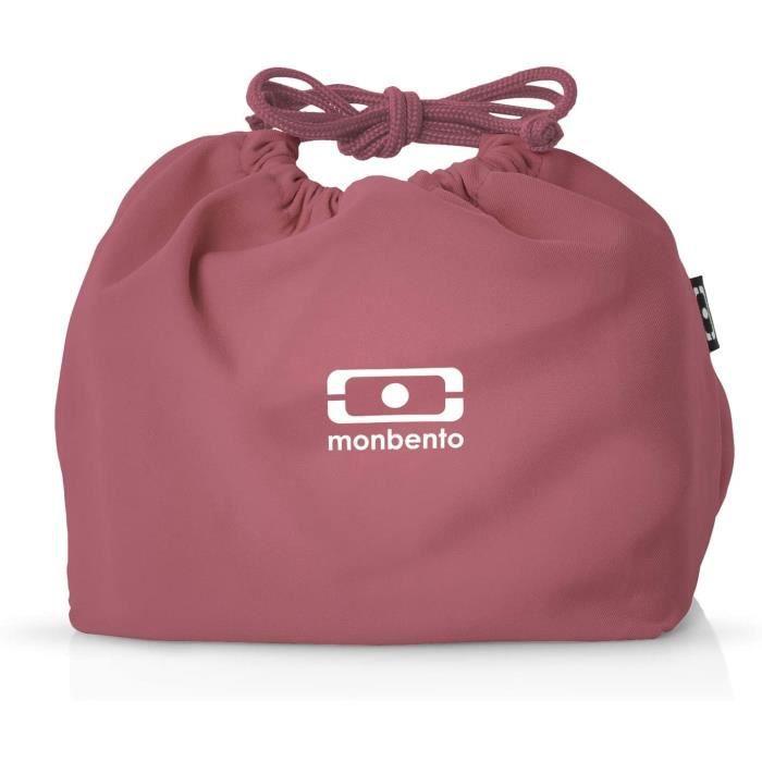 LUNCH BOX monbento MB Pochette Blush Lunch Bag Rose Sac bento Polyester Ideacuteal pour Les Lunch Box MB Original MB Square M749