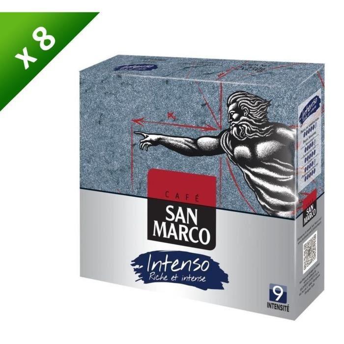 [LOT DE 8] SAN MARCO Café Moulu Intenso N°9 - 250 g x2