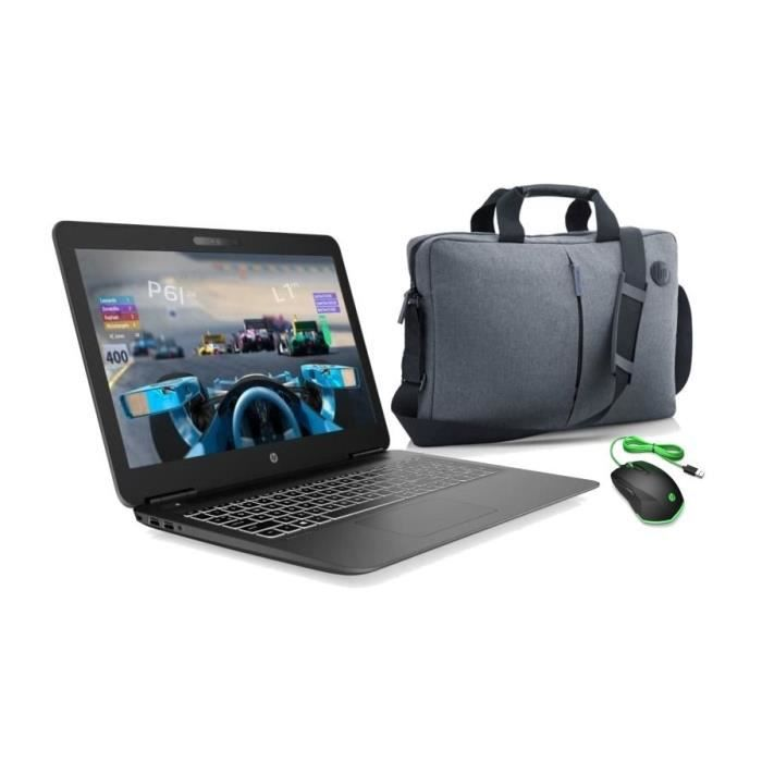 HP PC Portable Gamer 15-bc511nf - 15,6-FHD - i5-9300H - RAM 8Go - 1To HDD + 128Go SSD - GTX1050 + Souris Pavilion Gaming + Sacoche