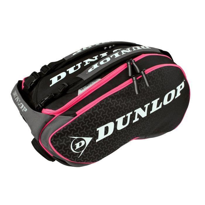 DUNLOP Sac pour raquette de Padel Paletero Elite 2018 - Noir et rose