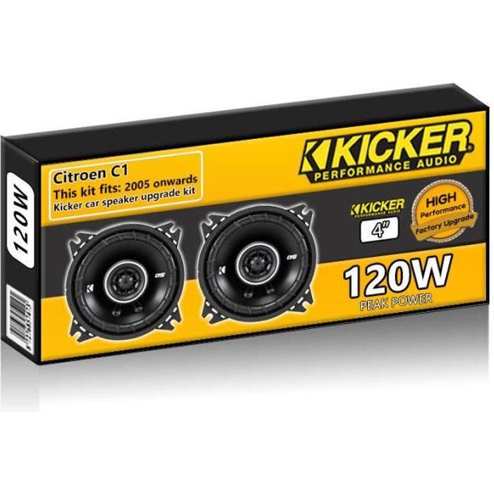 Citroen C1 Haut-parleurs avant pour tableau de bord Kicker Kit haut-parleur de voiture 4 -10cm 120W