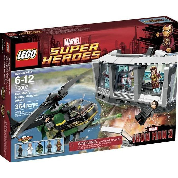 LEGO 76007 Marvel Super Heroes - Iron Man: l'attaque de la Villa