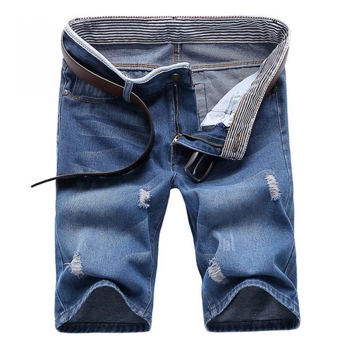 Short Homme Short en jean noir Short de sport Short de plage