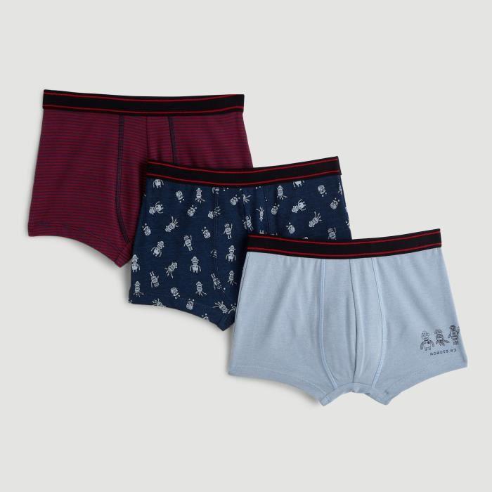 Lot de 3 boxers