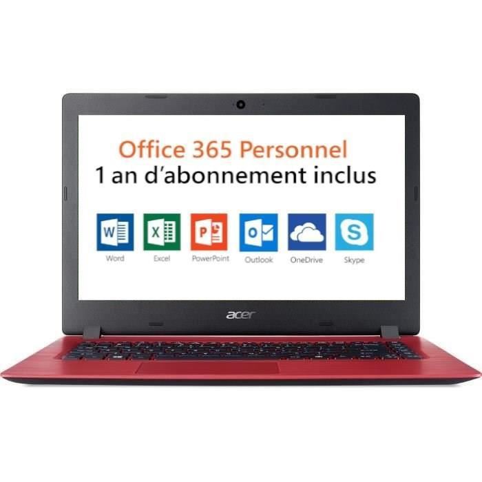 Ordinateur Portable - ACER Aspire A114-31 - 14 pouces - Celeron N3350 - RAM 2Go - Stockage 32Go SSD - Windows 10 S + Office 365