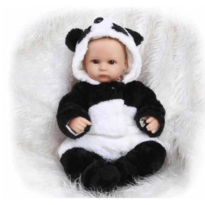 OFELI® Souple en silicone reborn bébé poupées Vivid réaliste mignon panda poupée jouet pour enfant cadeau d'anniversaire