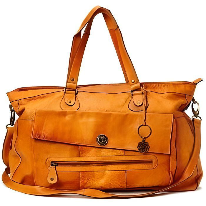 Sac cabas Pieces Cognac Travel Bag TOTALLY ROYAL Cuir 17055349 cognac