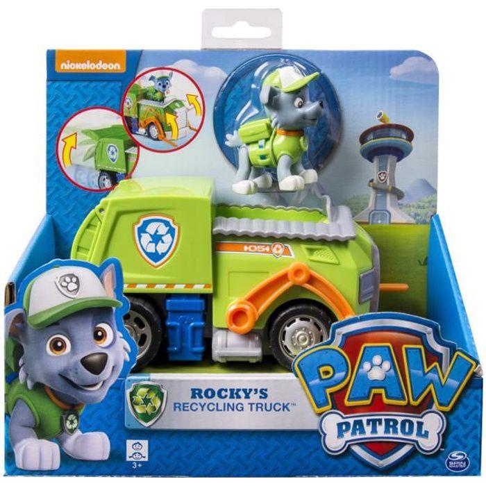 PAW PATROL - Figurine + véhicule Rocky