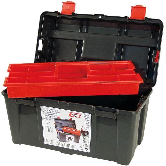 Boîte à outils plastique - noir - 45 cm