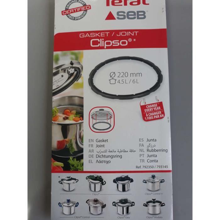 JOINT DE COCOTTE SEB CLIPSO-4.5L/6L SA792350/SA793145(ATTENTION ne commandez pas en fonction du diametre )