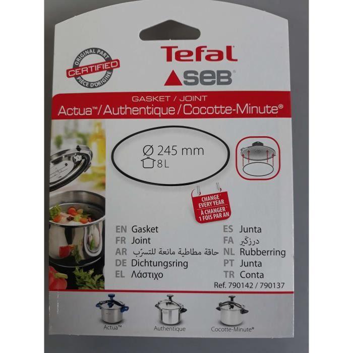 JOINT DE COCOTTE SEB 8 litre- 790142/790137(ATTENTION ne commandez pas en fonction du diametre)