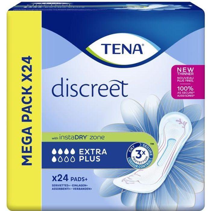 TENA discreet Extra Plus Serviette hygiénique - paquet de 24 serviettes