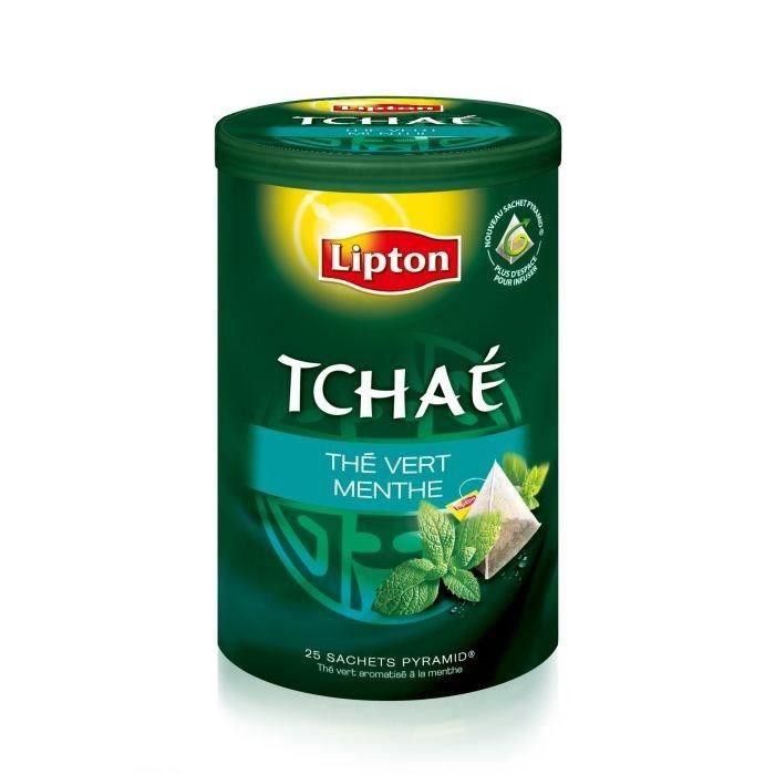 LIPTON Tchae Thé vert Menthe 25 Sachets