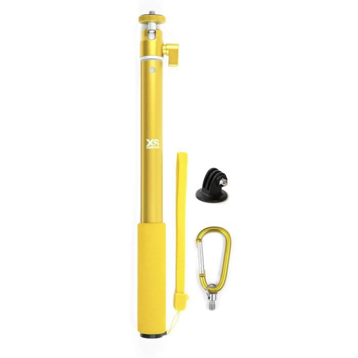 XSories - BIG U-SHOT avec Tripod Mount - Perche 29 à 94 cm pour GoPro, appareil photo ou camera, inoxydable - Jaune