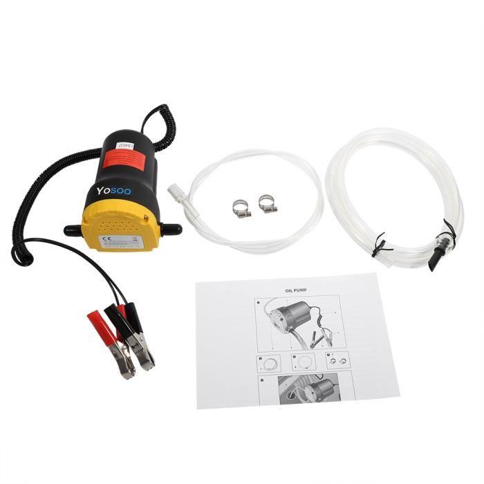 WIPES Aspiration électrique de pompe d'extracteur de transfert de fluide d'huile diesel 12V pour le bateau de moto de voiture