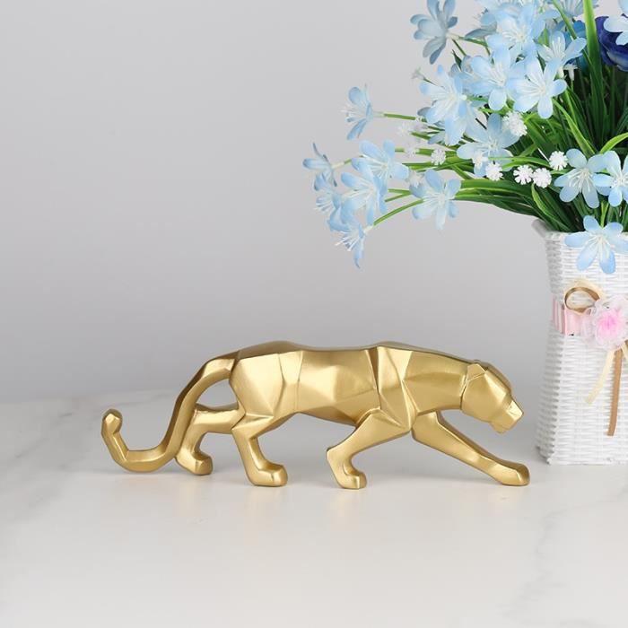 A-S-gold -Statue de panthère moderne en résine, Sculpture de Style géométrique abstrait, décoration pour la maison ou le bureau