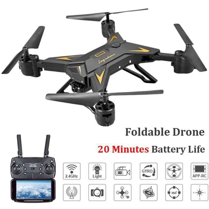 DRONE KY601S Drone 20 Minutes Temps de Vol WIFI FPV RC Q