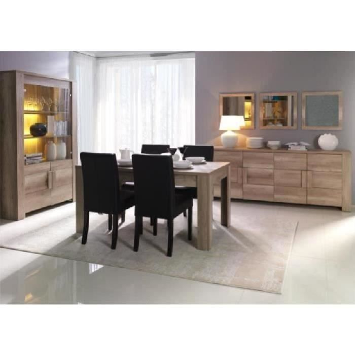 salle manger compl te ferrara buffet vitrine vaisselier miroirs table en 160 cm achat. Black Bedroom Furniture Sets. Home Design Ideas