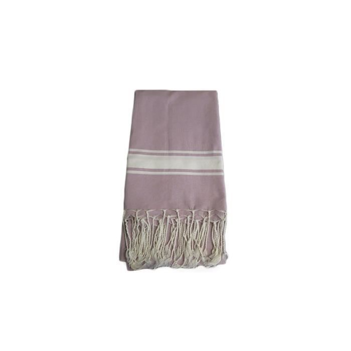fouta tissage plat mauve clair achat vente serviette de plage cdiscount. Black Bedroom Furniture Sets. Home Design Ideas