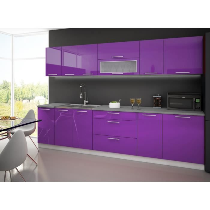 meuble cuisine violet table de cuisine. Black Bedroom Furniture Sets. Home Design Ideas