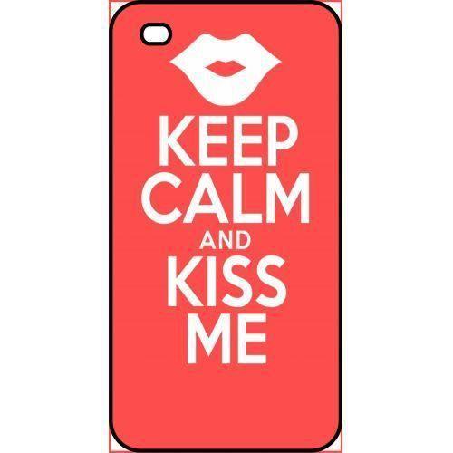 coque apple iphone 4s keep calm kiss me