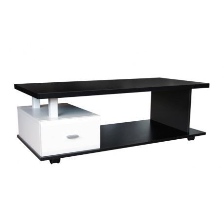 table basse noir et blanc achat vente table basse. Black Bedroom Furniture Sets. Home Design Ideas