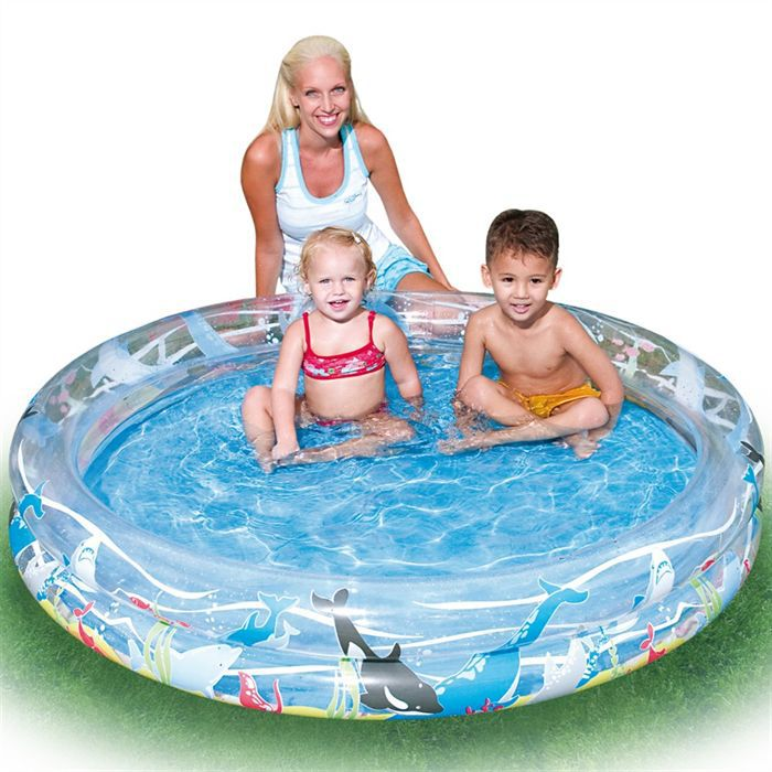 Piscine gonflable 122cm 2 boudins achat vente for Piscine 3 boudins intex