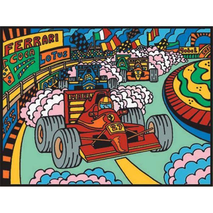 28 x 37 Les Chats à colorier Colorvelvet crayons inclus