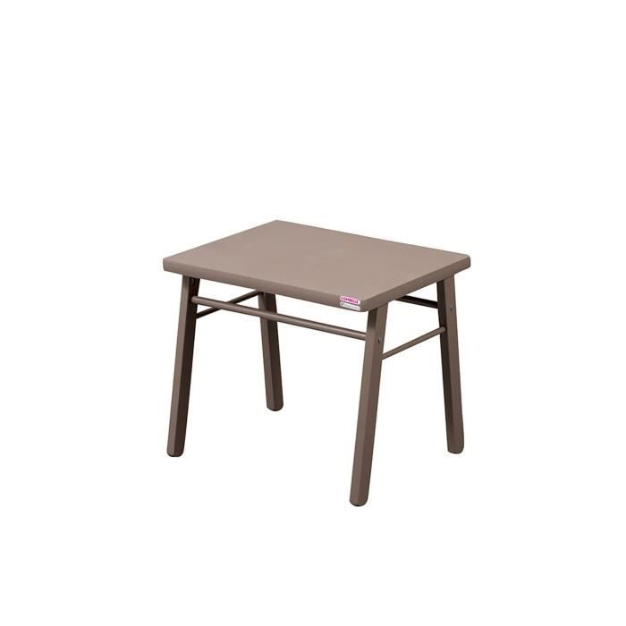 Combelle table basse b b taupe laqu taupe laqu achat - Table basse taupe laque ...