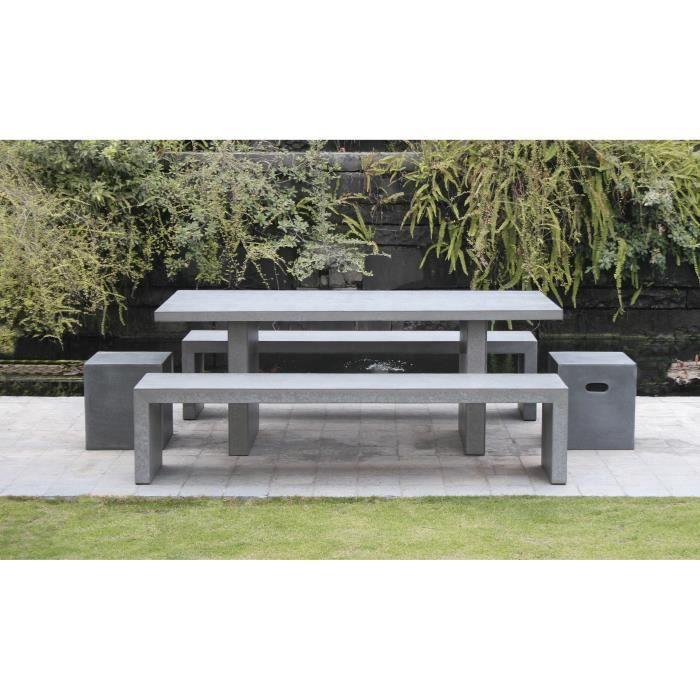 Ensemble table banc jardin