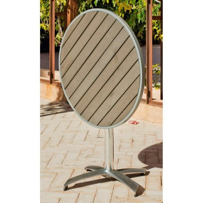 Hevea table gueridon bistrot 75cm pliante achat for Table de bistrot pliante