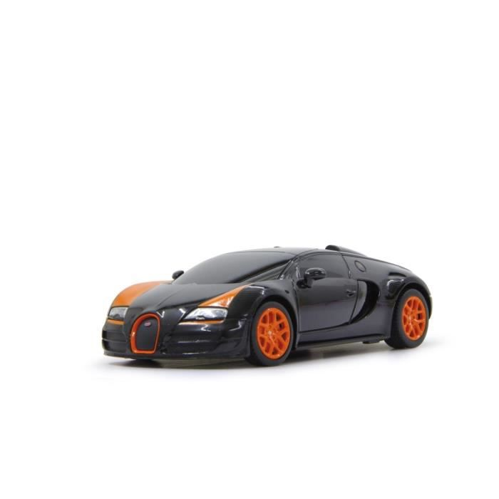 voiture rc bugatti veyron noire et orange 1 18 achat vente voiture construire cdiscount. Black Bedroom Furniture Sets. Home Design Ideas