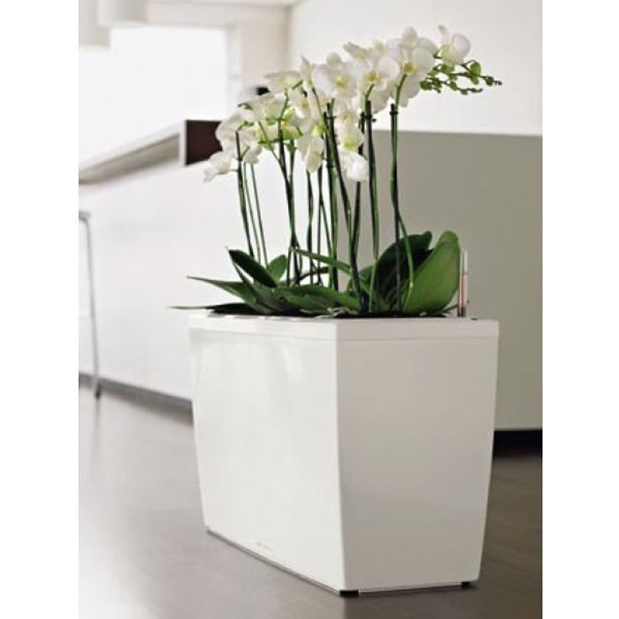 pot cararo blanc laqu achat vente jardini re pot fleur pot cararo blanc laqu cdiscount. Black Bedroom Furniture Sets. Home Design Ideas