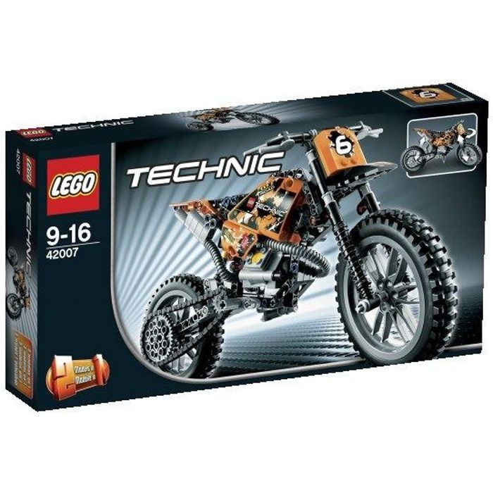 lego technic 42007 la moto cross achat vente. Black Bedroom Furniture Sets. Home Design Ideas