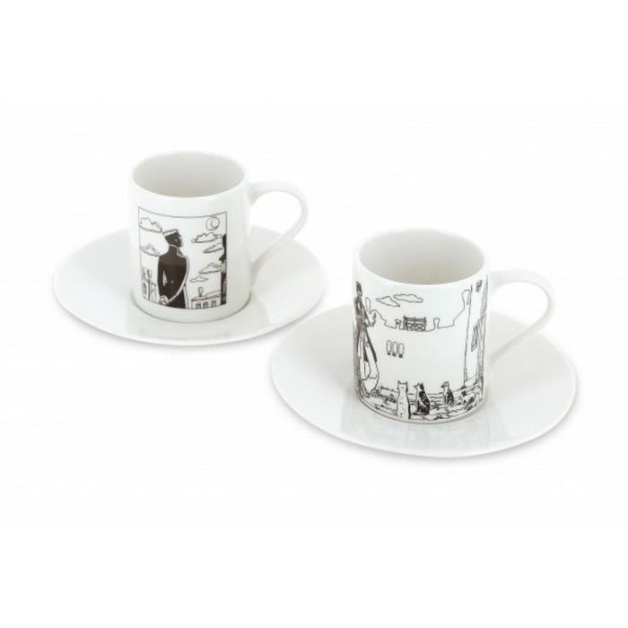 Set de deux tasses à café et soucoupe Corto Maltese à Venise (479821) -  Cdiscount MaisonCdiscount