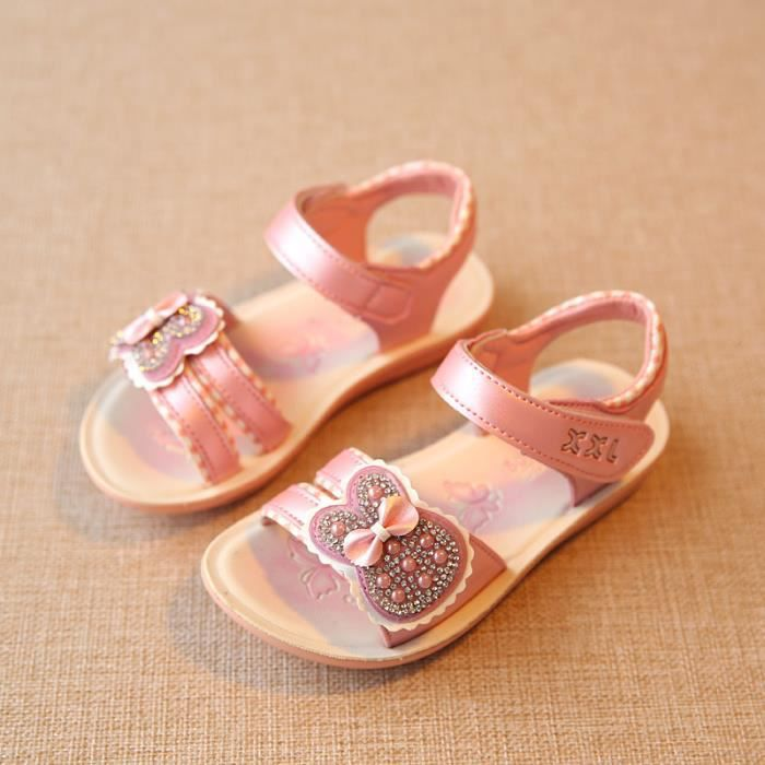 sandales chaussures b b et enfant fille plage rose. Black Bedroom Furniture Sets. Home Design Ideas