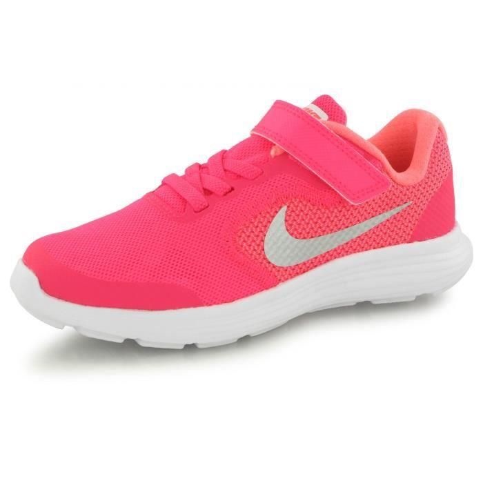 Nike Revolution 3 Velcro rose, baskets mode enfant Rose ...