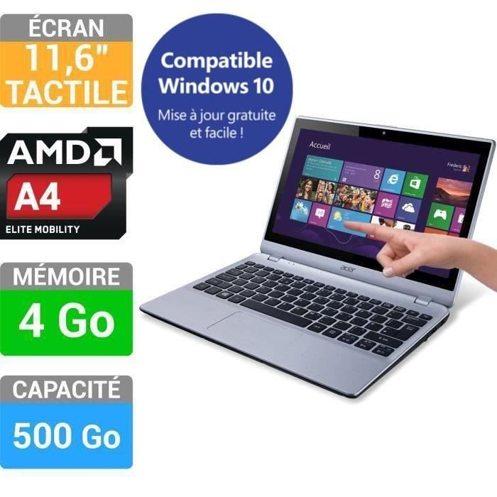 ORDINATEUR PORTABLE Acer PC Portable Tactile Aspire V5-122P