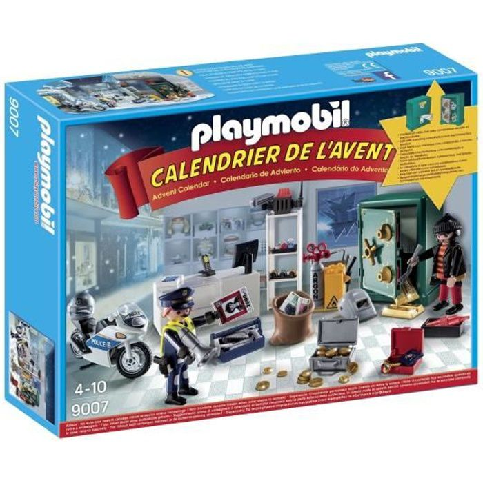 playmobil 9007 calendrier de l 39 avent policier achat vente univers miniature cdiscount. Black Bedroom Furniture Sets. Home Design Ideas