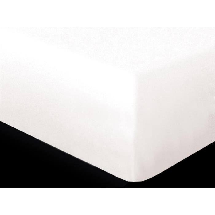 DRAP HOUSSE Protège matelas imperméable 140X190 cm BAMBOU par