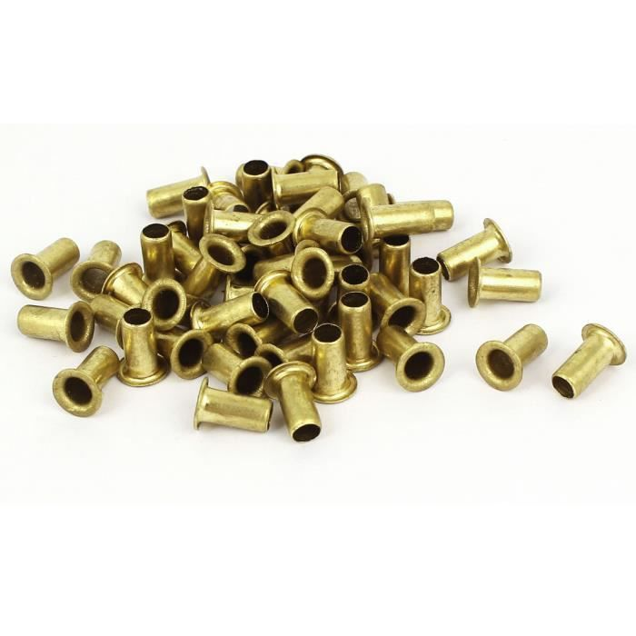 200pcs vis M2,5 x 5mm métal plaqué laiton doré Rivets oeillets creux