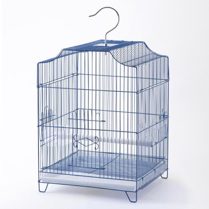 cage oiseaux grand mod le bleue 33x31x46cm achat vente voli re cage oiseau cage. Black Bedroom Furniture Sets. Home Design Ideas