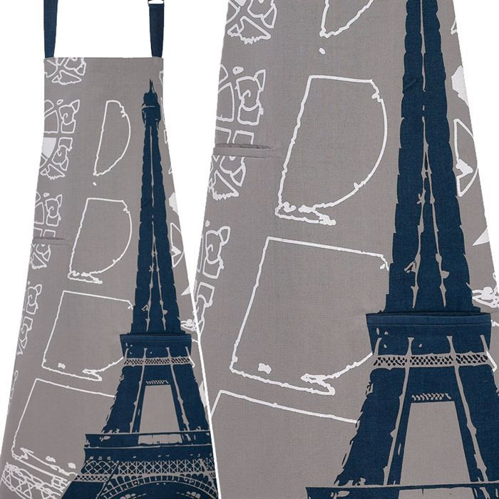 Tablier gris paris eiffel achat vente tablier de for Tablier de cuisine paris