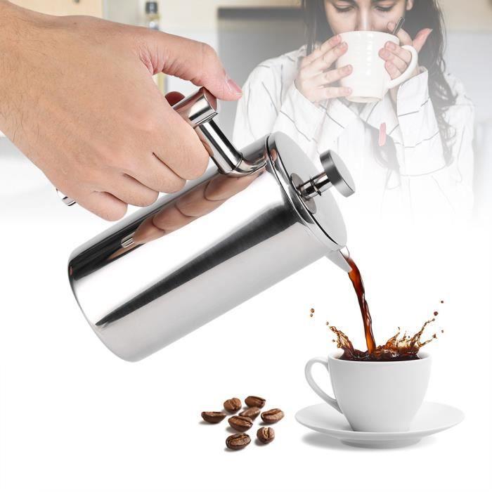 CAFETIÈRE - THÉIÈRE 350ML cafetière Pot de café de thé de presse en ac