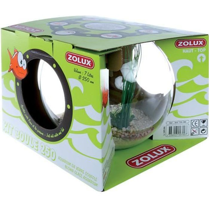Aquarium boule kit complet zolux achat vente aquarium for Poisson aquarium boule